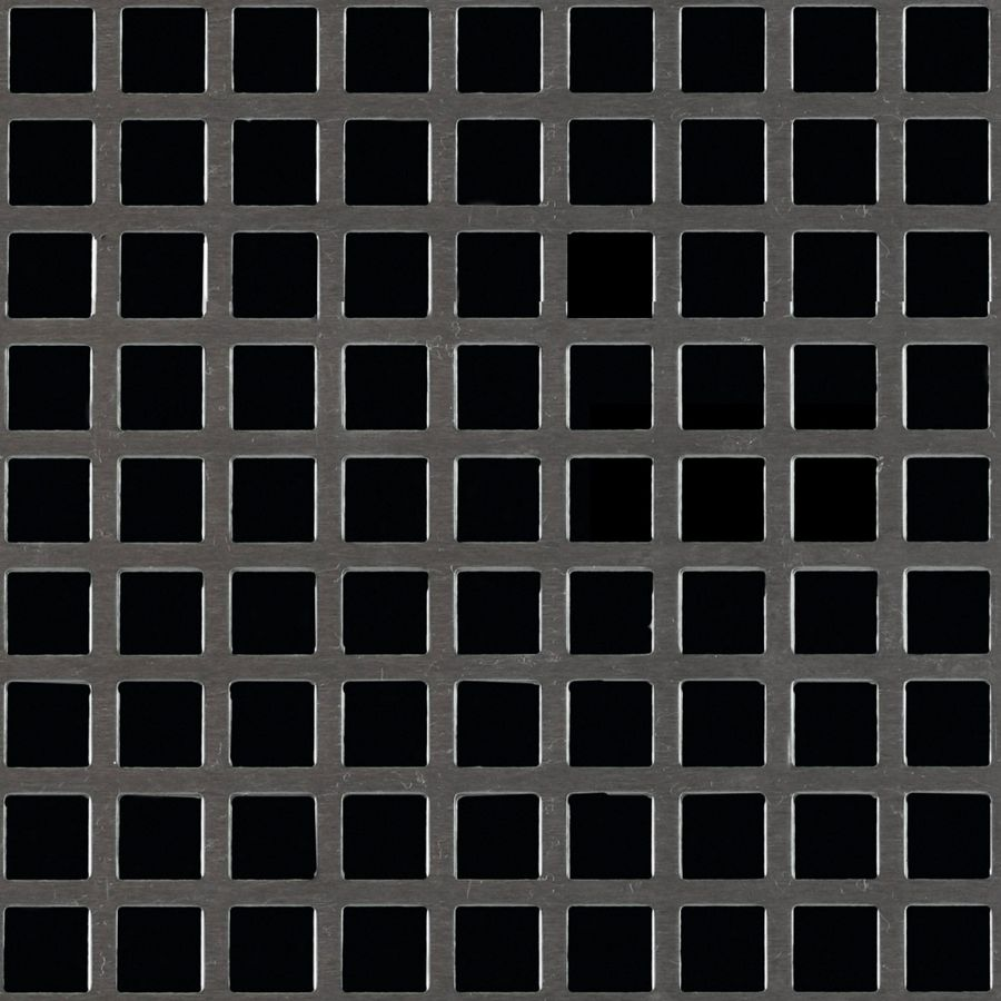 "McNICHOLS® Perforated  Metal Square, Aluminum, Alloy 3003-H14, .0630"" Thick (14 Gauge), 3/8"" Square on 1/2"" Straight Centers, 56% Open Area"