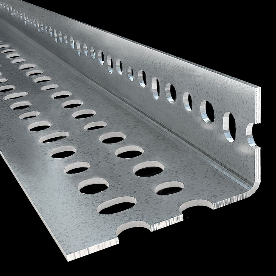 "McNICHOLS® Structural Shapes Slotted Angles, Standard-Duty, FLEX ANGLE®, Galvanized Steel, Pre-Galvanized, 14 Gauge (.0785"" Thick), Standard-Duty Slotted 90° Angle Bundle, Unequal Legs (1-1/2"" Leg x 2-1/4"" Leg)"