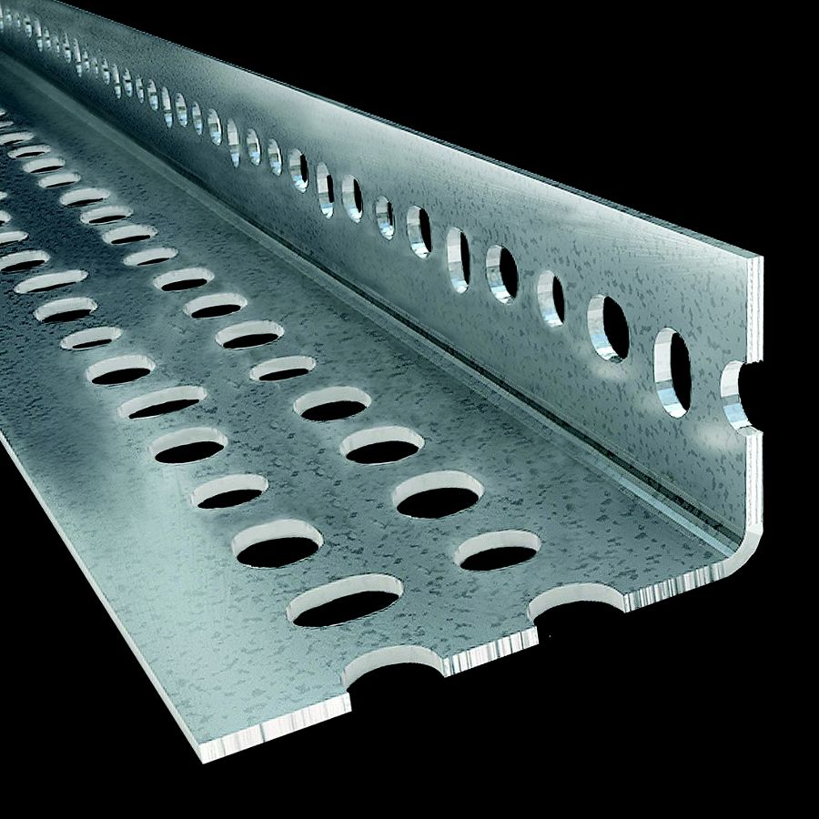 "McNICHOLS® Structural Shapes Slotted Angles, FLEX ANGLE®, Galvanized, 14 Gauge (.0785"" Thick), Slotted Angles (1-1/2"" Leg x 2-1/4"" Leg x 120"" Length)"