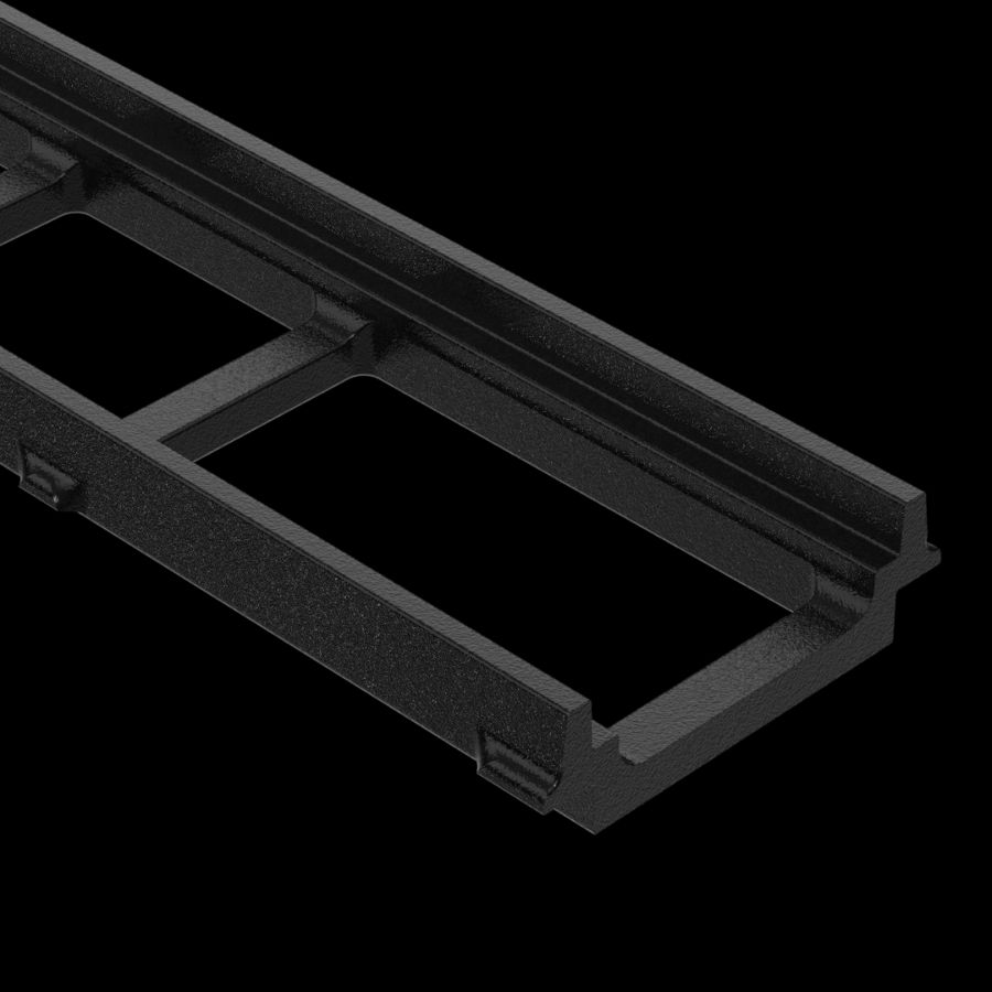McNICHOLS® Trench Drain Frames, POLYCAST® Series 700, Cast Iron, Kit A - 20-Linear Feet
