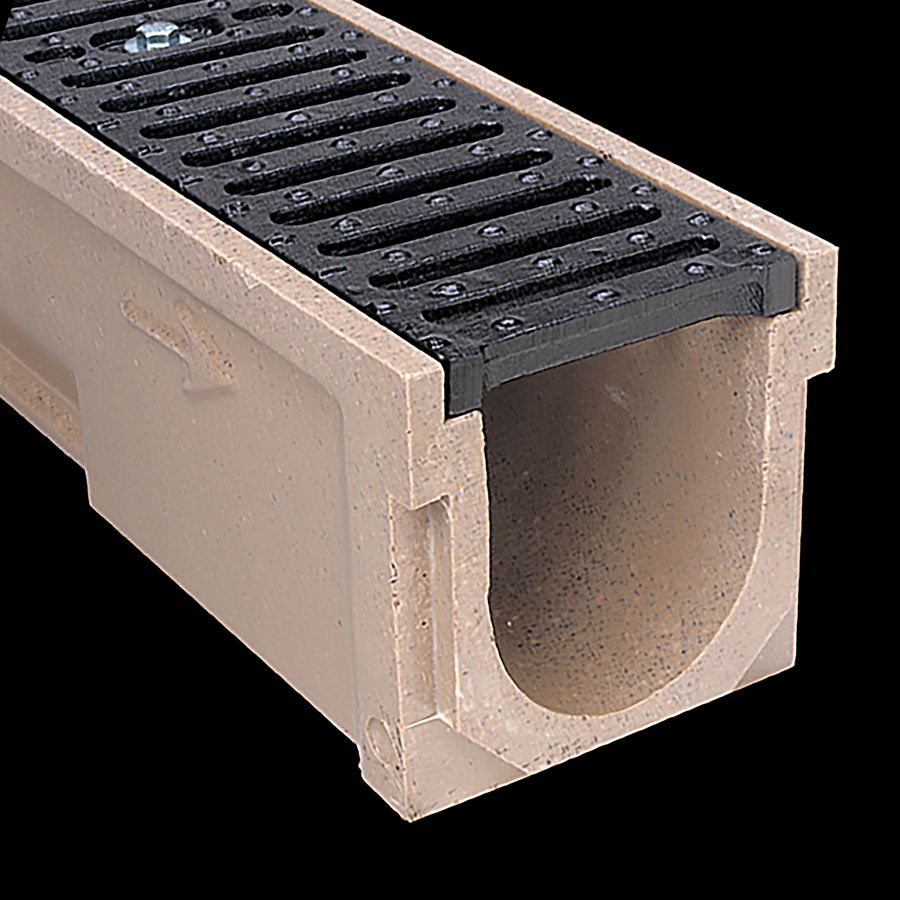 McNICHOLS® Trench Drain System, POLYCAST ®, Polymer Concrete, Kit 1 - 20 Linear Feet