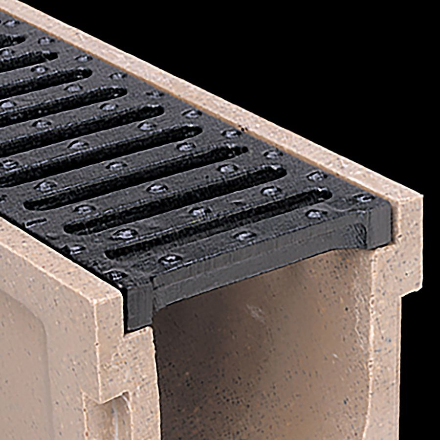McNICHOLS® Trench Drain System, POLYCAST® Series 600, Polymer Concrete, Kit 2 - 40-Linear Feet