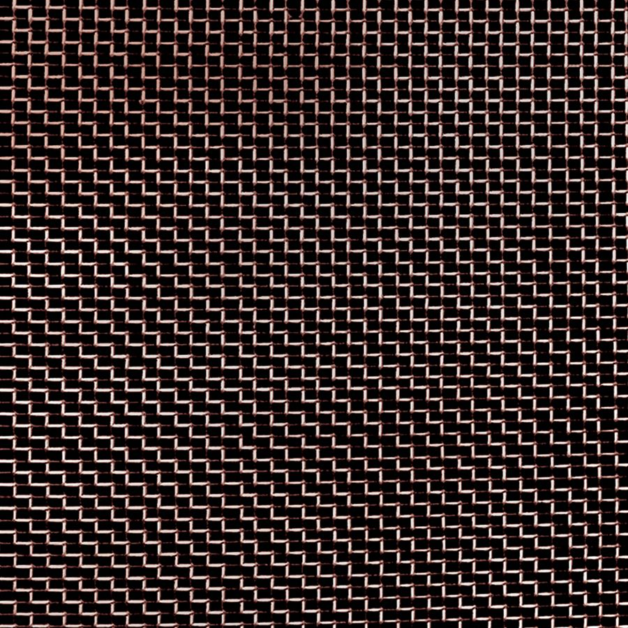 "McNICHOLS® Wire Mesh Rectangular, INSECT SCREEN, Bronze, Bronze Alloy, Woven - Plain Weave, 18 x 14 Mesh (Rectangular), 0.0446"" x 0.0604"" Opening (Rectangular), 0.011"" Thick (33-1/2 Gauge) Wire Diameter, 68% Open Area"