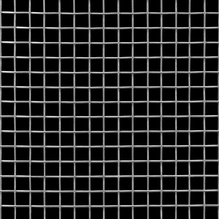 "McNICHOLS® Wire Mesh Square, Stainless Steel, Type 316, Woven - Plain Weave, 2 x 2 Mesh (Square), 0.4370"" x 0.4370"" Opening (Square), 0.063"" Thick Wire Diameter, 76% Open Area"