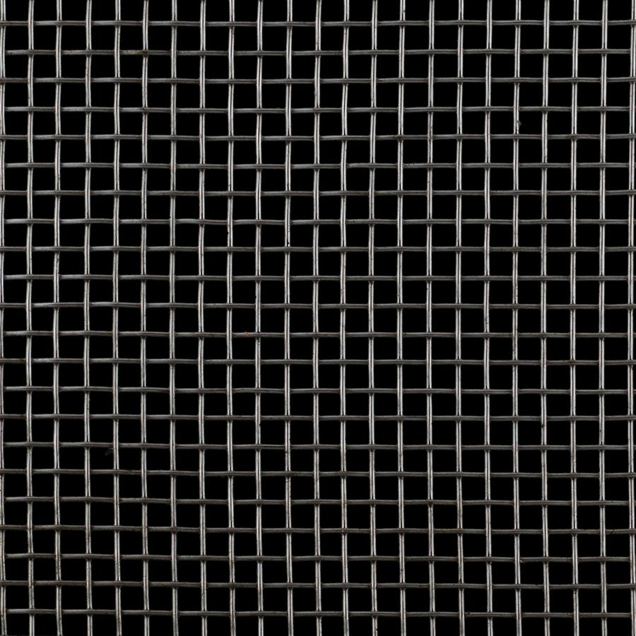 "McNICHOLS® Wire Mesh Square, Stainless Steel, Type 316, Woven - Plain Weave, 4 x 4 Mesh (Square), 0.2030"" x 0.2030"" Opening (Square), 0.047"" Thick (18 Gauge) Wire Diameter, 66% Open Area"