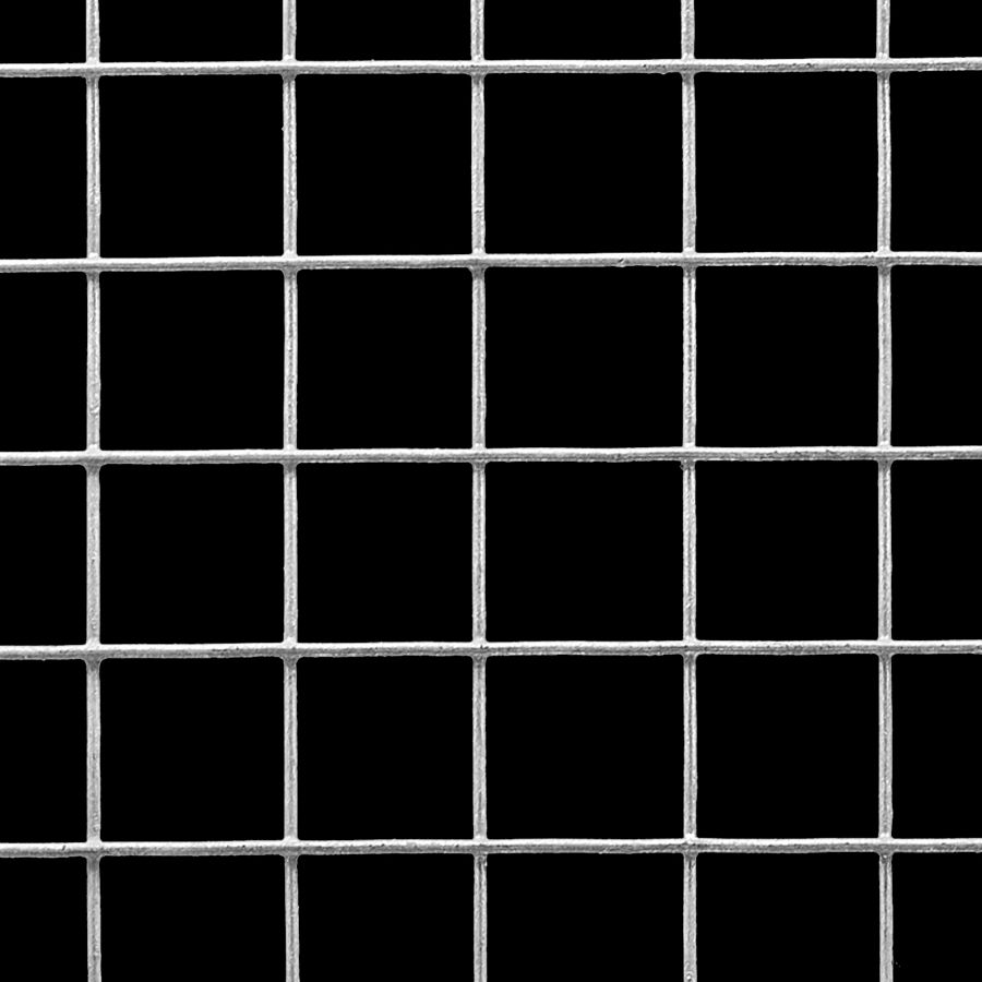 "McNICHOLS® Wire Mesh Square, Galvanized, Pre-Galvanized, Welded - Trimmed, 1 x 1 Mesh (Square), 0.9370"" x 0.9370"" Opening (Square), 0.063"" Thick (16 Gauge) Wire Diameter, 88% Open Area"