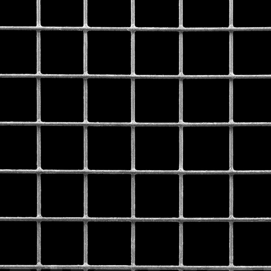 "McNICHOLS® Wire Mesh Square, HARDWARE & INDUSTRIAL CLOTH, Galvanized, Hot Dipped, Welded - Trimmed, 1 x 1 Mesh (Square), 0.9200"" x 0.9200"" Opening (Square), 0.080"" Thick (14 Gauge) Wire Diameter, 85% Open Area"