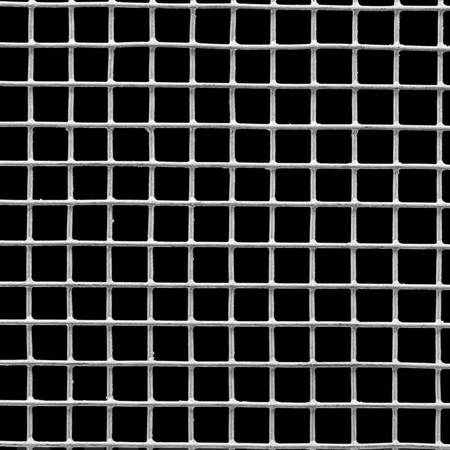 "McNICHOLS® Wire Mesh Square, HARDWARE & INDUSTRIAL CLOTH, Galvanized Steel, Hot Dipped, Welded - Trimmed, 2 x 2 Mesh (Square), 0.4370"" x 0.4370"" Opening (Square), 0.063"" Thick (16 Gauge) Wire Diameter, 76% Open Area"