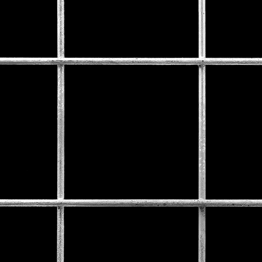 "McNICHOLS® Wire Mesh Square, Galvanized, Hot Dipped, Welded - Untrimmed, 3"" x 3"" Mesh (Square), 2.8650"" x 2.8650"" Opening (Square), 0.135"" Thick Wire Diameter, 91% Open Area"