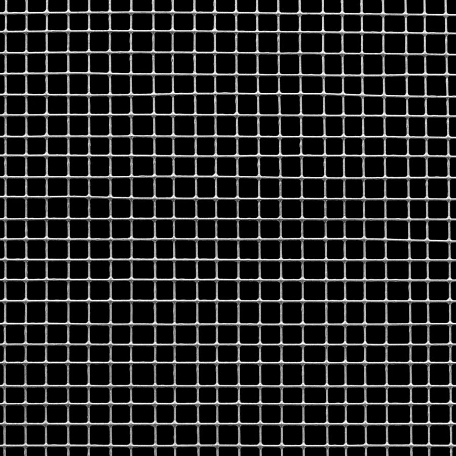 "McNICHOLS® Wire Mesh Square, Galvanized, Hot Dipped, Woven - Plain Weave, 4 x 4 Mesh (Square), 0.2250"" x 0.2250"" Opening (Square), 0.025"" Thick (23-1/4 Gauge) Wire Diameter, 81% Open Area"