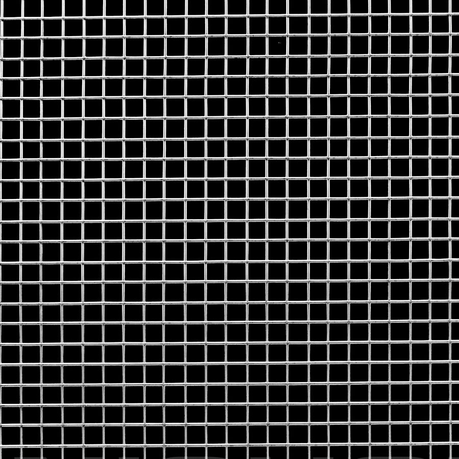 "McNICHOLS® Wire Mesh Square, Galvanized, Hot Dipped, Welded - Trimmed, 4 x 4 Mesh (Square), 0.2250"" x 0.2250"" Opening (Square), 0.025"" Thick Wire Diameter, 81% Open Area"