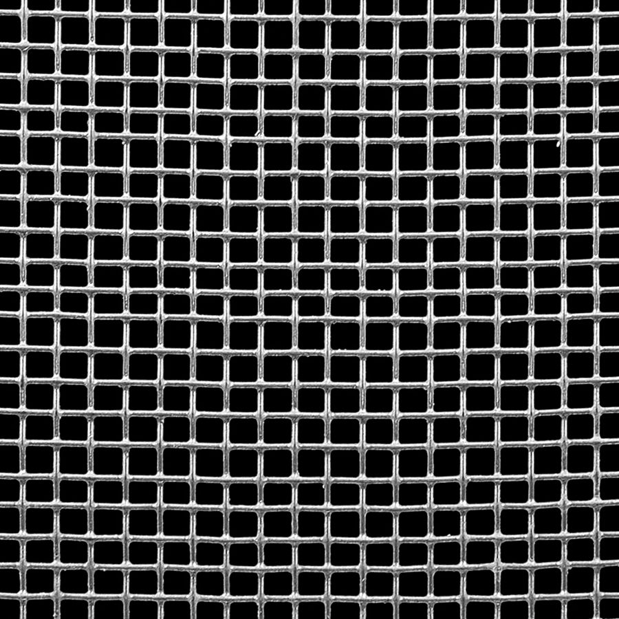 "McNICHOLS® Wire Mesh Square, HARDWARE & INDUSTRIAL CLOTH, Galvanized Steel, Hot Dipped, Woven - Plain Weave, 4 x 4 Mesh (Square), 0.2030"" x 0.2030"" Opening (Square), 0.047"" Thick (18 Gauge) Wire Diameter, 66% Open Area"