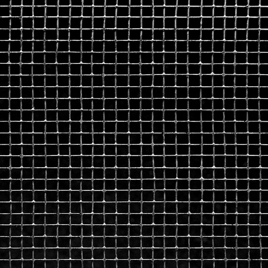 "McNICHOLS® Wire Mesh Square, HARDWARE & INDUSTRIAL CLOTH, Galvanized Steel, Hot Dipped, Woven - Plain Weave, 8 x 8 Mesh (Square), 0.1080"" x 0.1080"" Opening (Square), 0.017"" Thick (27-1/4 Gauge) Wire Diameter, 75% Open Area"