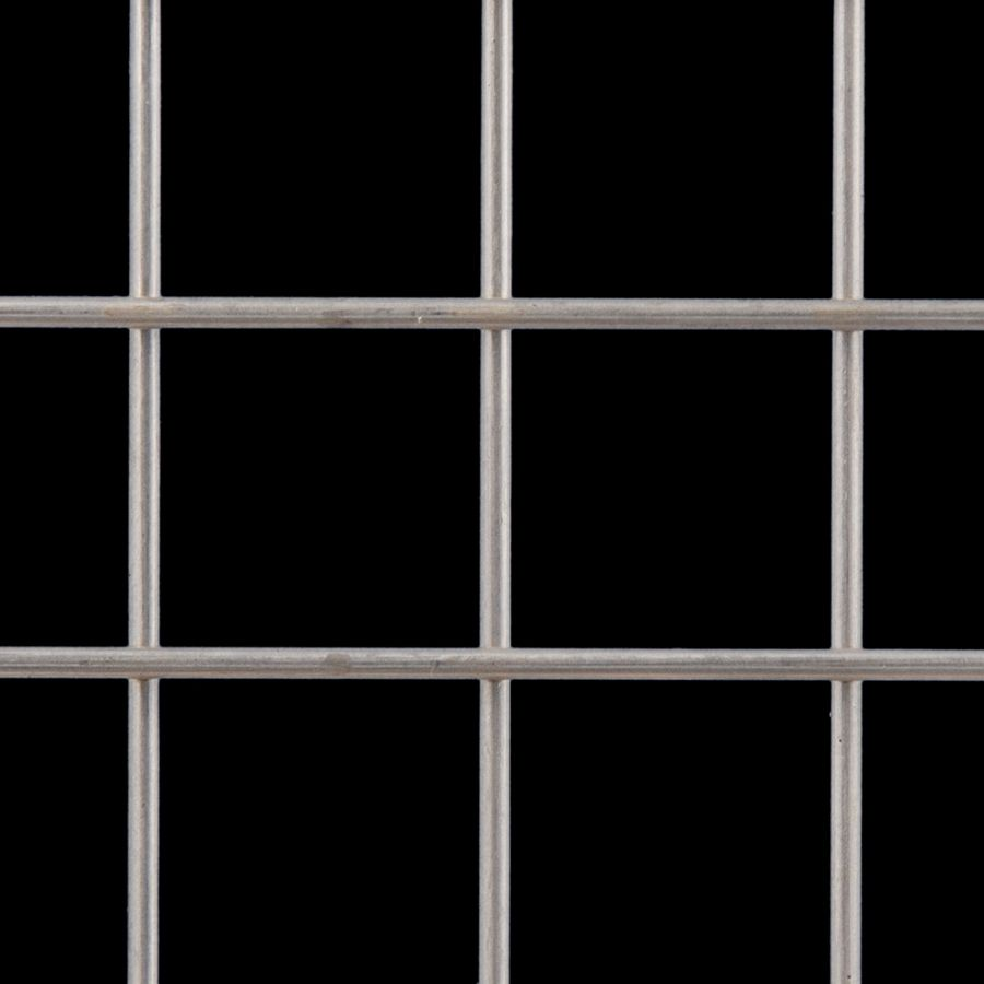"McNICHOLS® Wire Mesh Square, Galvanized Steel, Galfan Coated, Welded - Trimmed, 2"" x 2"" Mesh (Square), 1.8080"" x 1.8080"" Opening (Square), 0.192"" Thick (6 Gauge) Wire Diameter, 82% Open Area"