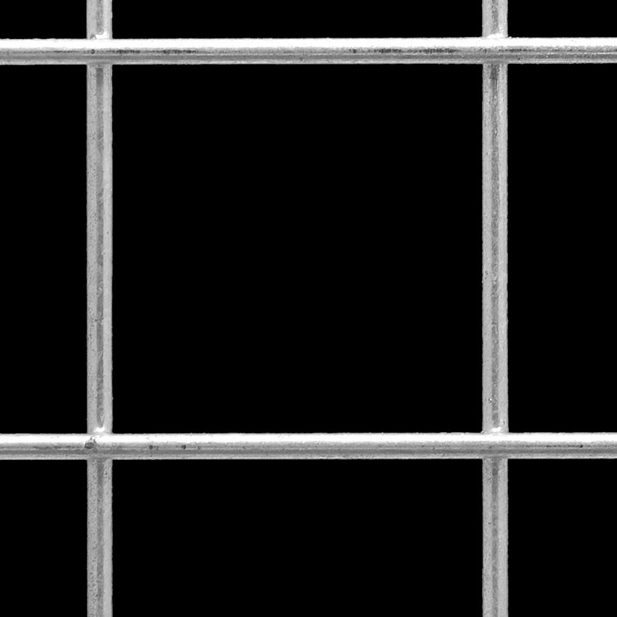 "McNICHOLS® Wire Mesh Square, Galvanized Steel, Hot Dipped, Welded - Trimmed, 3"" x 3"" Mesh (Square), 2.8120"" x 2.8120"" Opening (Square), 0.188"" Thick (6-1/4 Gauge) Wire Diameter, 88% Open Area"