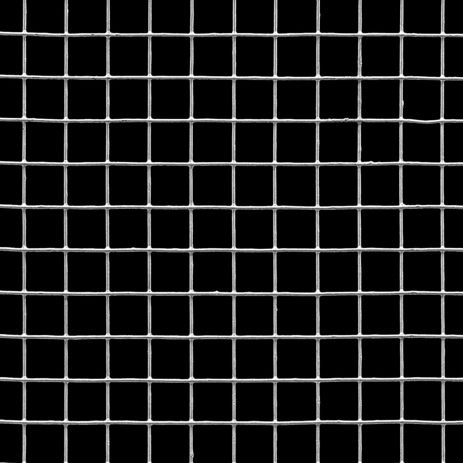 "McNICHOLS® Wire Mesh Square, Galvanized, Hot Dipped, Welded - Trimmed, 2 x 2 Mesh (Square), 0.4590"" x 0.4590"" Opening (Square), 0.041"" Thick (19 Gauge) Wire Diameter, 84% Open Area"