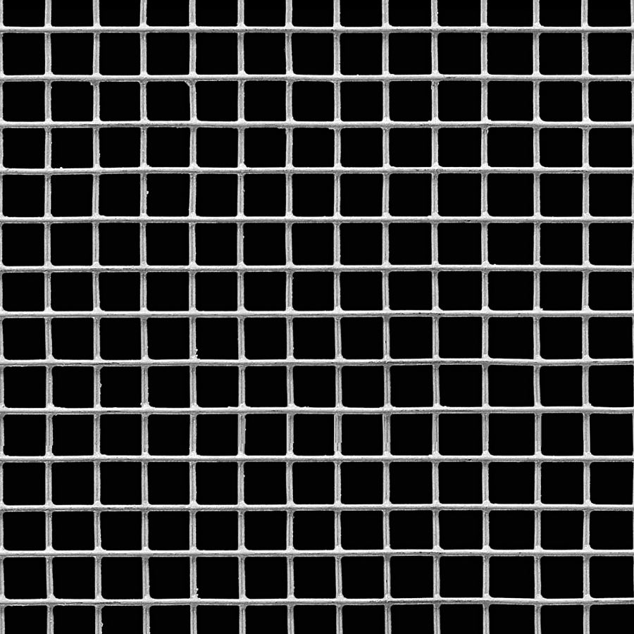"McNICHOLS® Wire Mesh Square, Galvanized Steel, Hot Dipped, Welded - Trimmed, 2 x 2 Mesh (Square), 0.4370"" x 0.4370"" Opening (Square), 0.063"" Thick (16 Gauge) Wire Diameter, 76% Open Area"