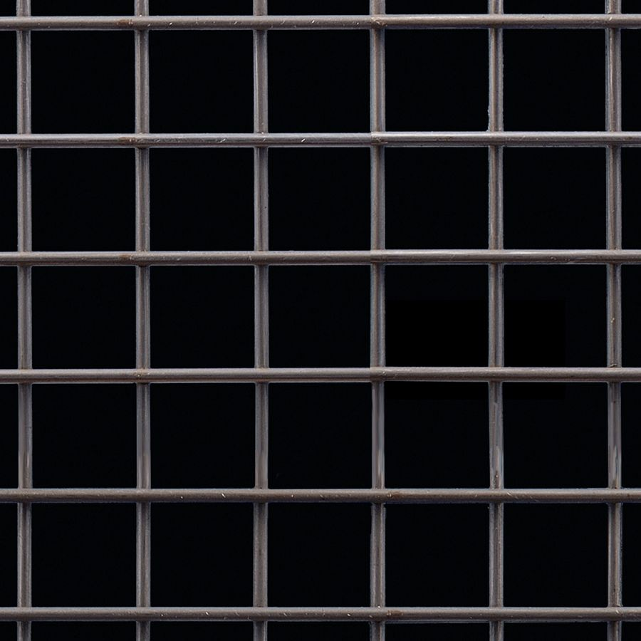 "McNICHOLS® Wire Mesh Square, Carbon Steel, Cold Rolled, Welded - Trimmed, 1 x 1 Mesh (Square), 0.8820"" x 0.8820"" Opening (Square), 0.120"" Thick Wire Diameter, 77% Open Area"