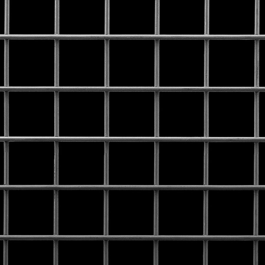 "McNICHOLS® Wire Mesh Square, Carbon Steel, Cold Rolled, Welded - Trimmed, 1 x 1 Mesh (Square), 0.9000"" x 0.9000"" Opening (Square), 0.105"" Thick (12 Gauge) Wire Diameter, 82% Open Area"