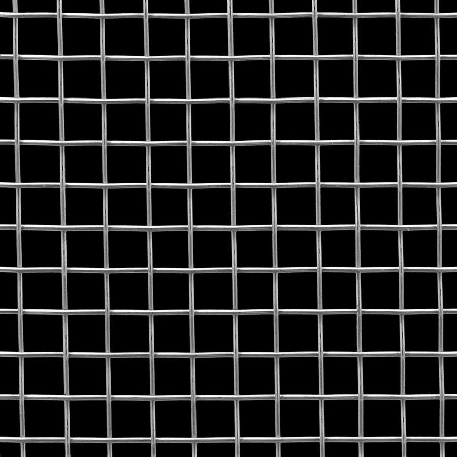 "McNICHOLS® Wire Mesh Square, Carbon Steel, Cold Rolled, Woven - Plain Weave, 2 x 2 Mesh (Square), 0.4370"" x 0.4370"" Opening (Square), 0.063"" Thick (16 Gauge) Wire Diameter, 76% Open Area"