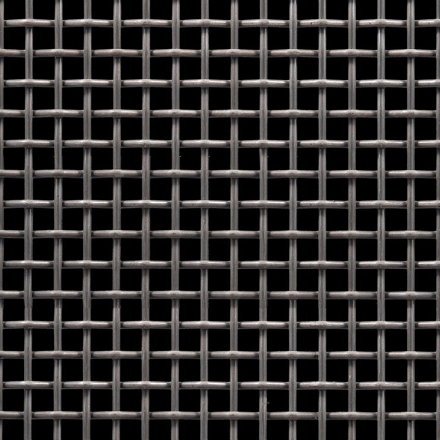 "McNICHOLS® Wire Mesh Square, Carbon Steel, Cold Rolled, Woven - Plain Weave, 2 x 2 Mesh (Square), 0.3650"" x 0.3650"" Opening (Square), 0.135"" Thick (10 Gauge) Wire Diameter, 53% Open Area"