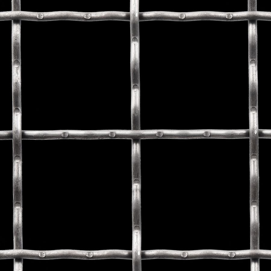 "McNICHOLS® Wire Mesh Square, Carbon Steel, Cold Rolled, Woven - Intercrimp Weave, I5I5 Crimp Style, 3.0000"" x 3.0000"" Opening (Square), 0.250"" Thick (2-3/4 Gauge) Wire Diameter, 85% Open Area"