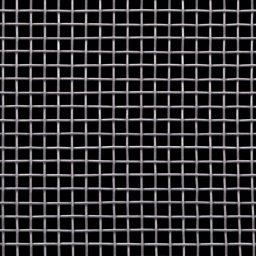 "McNICHOLS® Wire Mesh Square, Carbon Steel, Cold Rolled, Woven - Plain Weave, 3 x 3 Mesh (Square), 0.2703"" x 0.2703"" Opening (Square), 0.063"" Thick (16 Gauge) Wire Diameter, 66% Open Area"