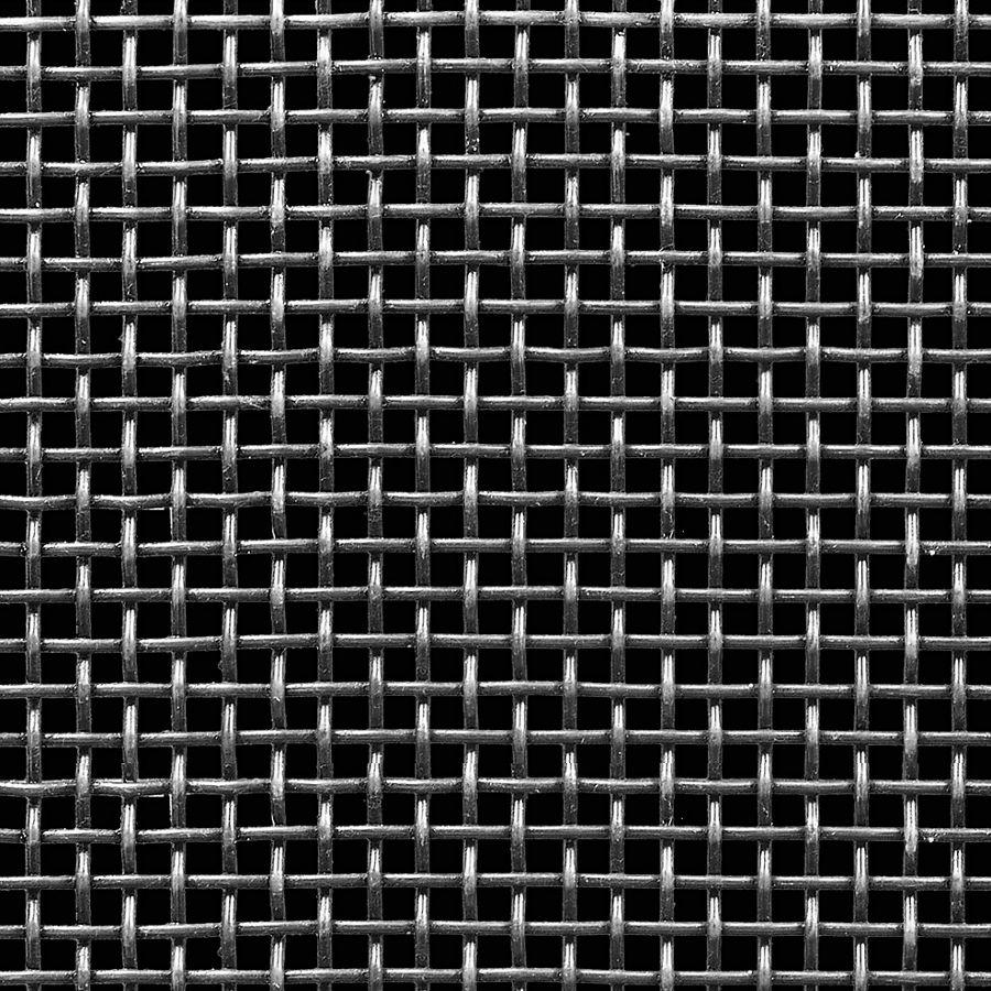 """McNICHOLS® Wire Mesh Square, Carbon Steel, Cold Rolled, Woven - Plain Weave, 3 x 3 Mesh (Square), 0.2283"""" x 0.2283"""" Opening (Square), 0.105"""" Thick (12 Gauge) Wire Diameter, 47% Open Area"""