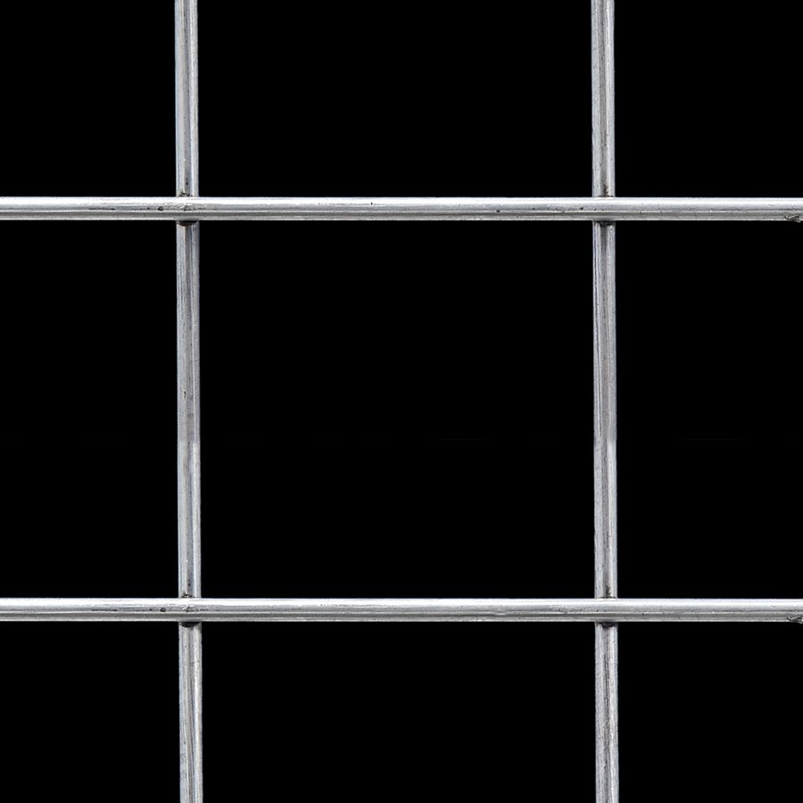 "McNICHOLS® Wire Mesh Square, Carbon Steel, Cold Rolled, Welded - Trimmed, 4"" x 4"" Mesh (Square), 3.7750"" x 3.7750"" Opening (Square), 0.225"" Thick (4 Gauge) Wire Diameter, 90% Open Area"
