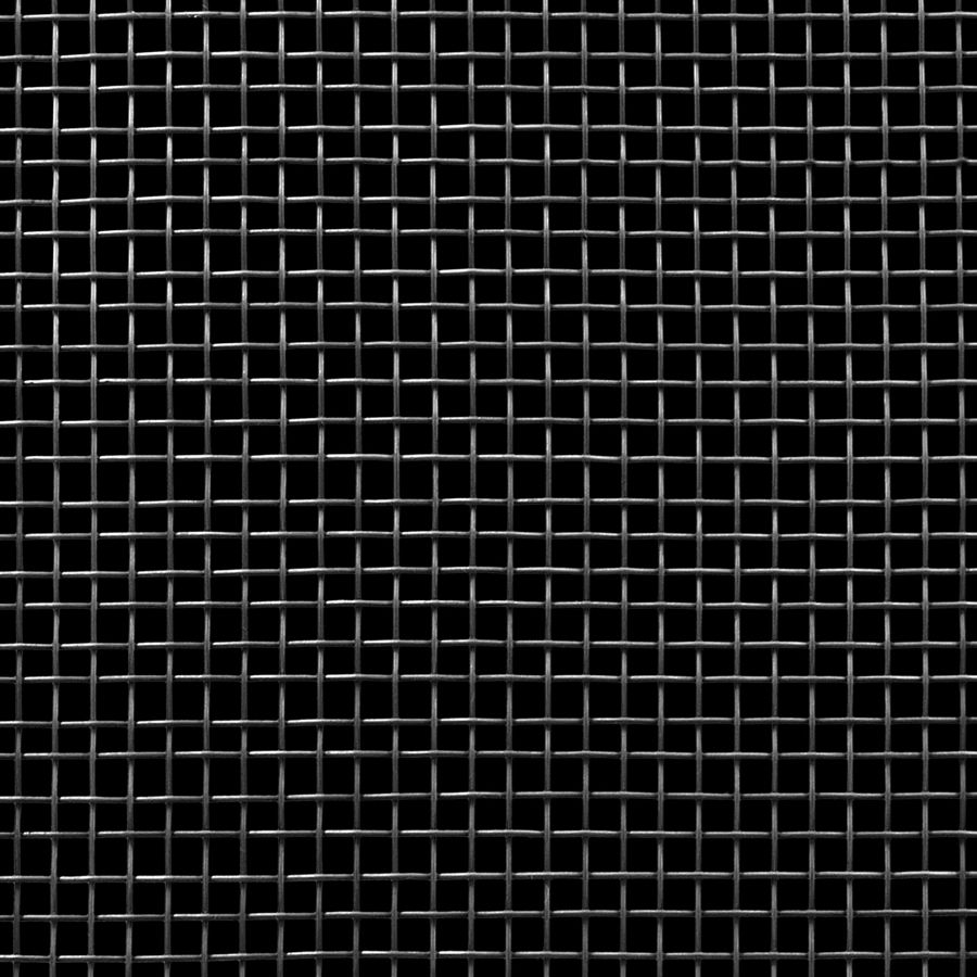 "McNICHOLS® Wire Mesh Square, Carbon Steel, Cold Rolled, Woven - Plain Weave, 4 x 4 Mesh (Square), 0.2030"" x 0.2030"" Opening (Square), 0.047"" Thick Wire Diameter, 66% Open Area"