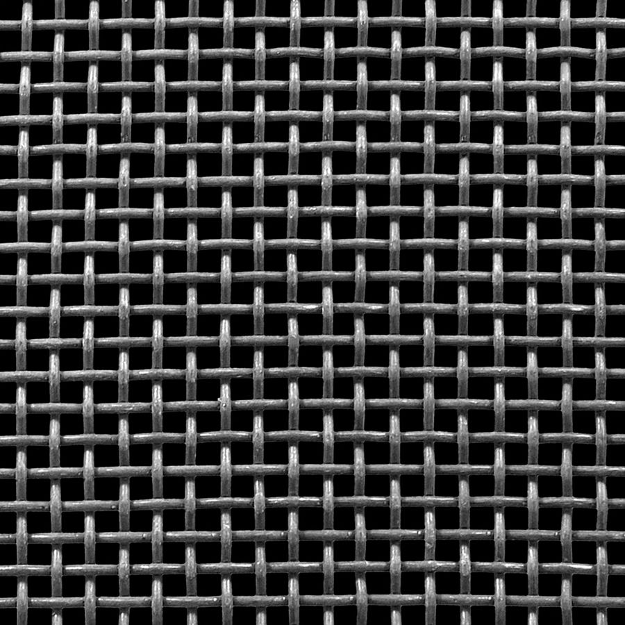 "McNICHOLS® Wire Mesh Square, Carbon Steel, Cold Rolled, Woven - Plain Weave, 4 x 4 Mesh (Square), 0.1700"" x 0.1700"" Opening (Square), 0.080"" Thick (14 Gauge) Wire Diameter, 46% Open Area"