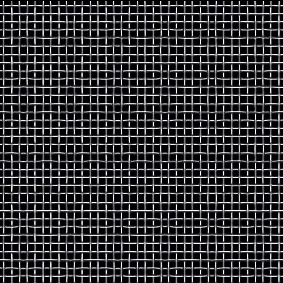 "McNICHOLS® Wire Mesh Square, Carbon Steel, Cold Rolled, Woven - Plain Weave, 6 x 6 Mesh (Square), 0.1317"" x 0.1317"" Opening (Square), 0.035"" Thick (20 Gauge) Wire Diameter, 63% Open Area"