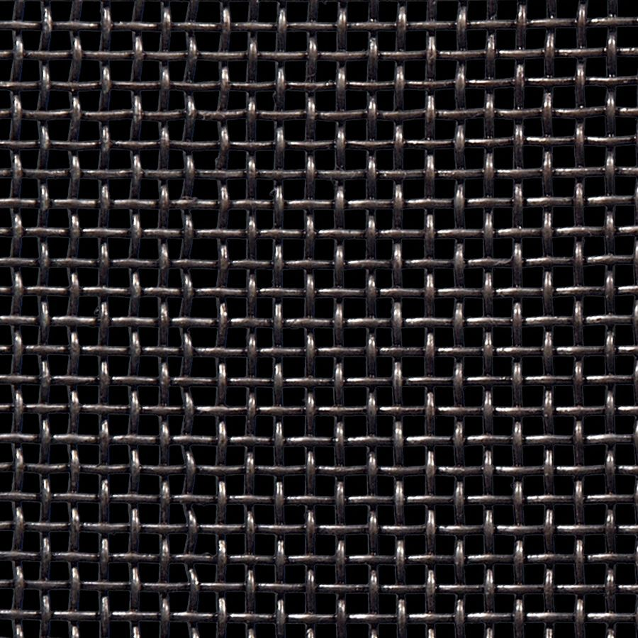 """McNICHOLS® Wire Mesh Square, Carbon Steel, Cold Rolled, Woven - Plain Weave, 6 x 6 Mesh (Square), 0.1037"""" x 0.1037"""" Opening (Square), 0.063"""" Thick Wire Diameter, 39% Open Area"""