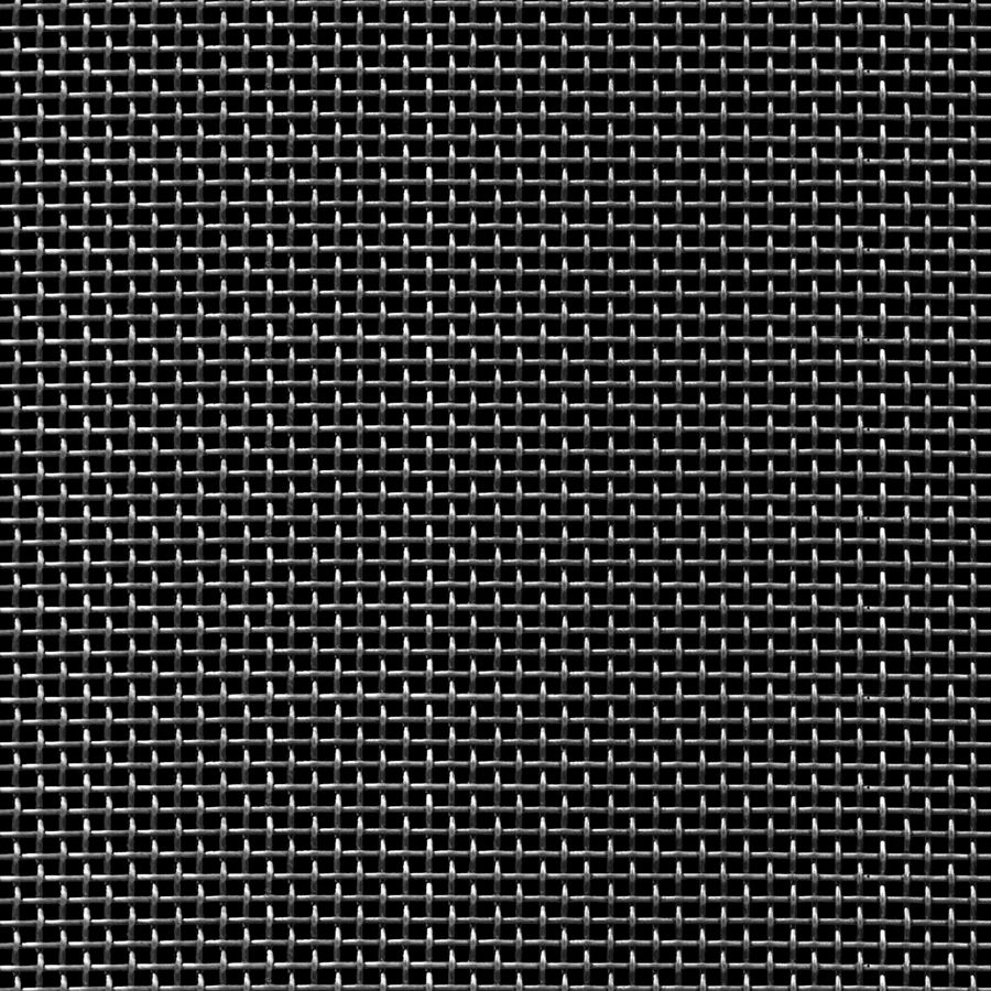 """McNICHOLS® Wire Mesh Square, Carbon Steel, Cold Rolled, Woven - Plain Weave, 12 x 12 Mesh (Square), 0.0553"""" x 0.0553"""" Opening (Square), 0.028"""" Thick Wire Diameter, 44% Open Area"""