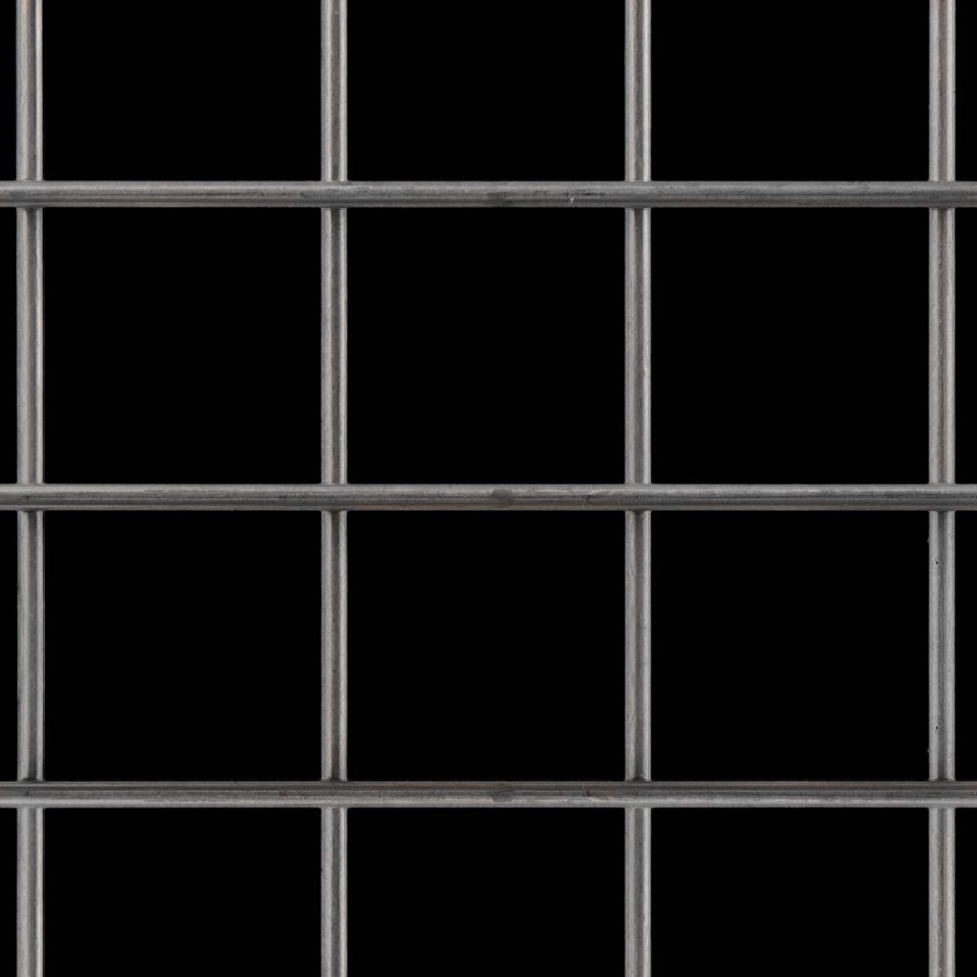 "McNICHOLS® Wire Mesh Square, Carbon Steel, Cold Rolled, Welded - Untrimmed, 2"" x 2"" Mesh (Square), 1.8130"" x 1.8130"" Opening (Square), 0.187"" Thick (6-1/4 Gauge) Wire Diameter, 82% Open Area"