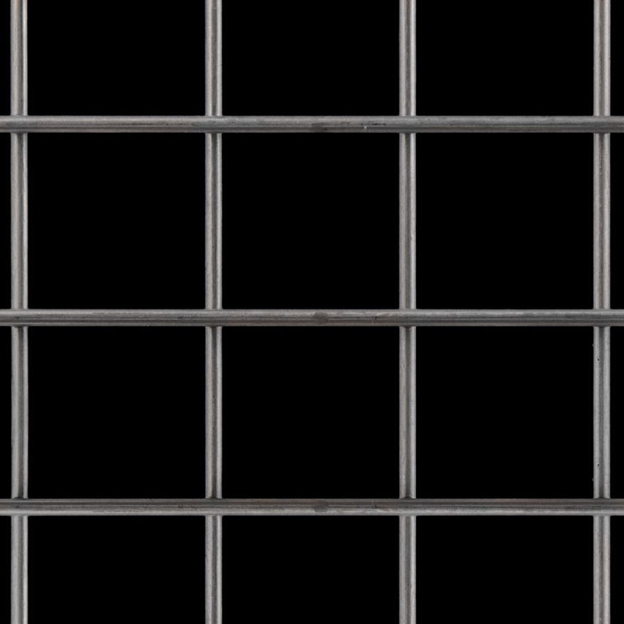 "McNICHOLS® Wire Mesh Square, Carbon Steel, Cold Rolled, Welded - Trimmed, 2"" x 2"" Mesh (Square), 1.8130"" x 1.8130"" Opening (Square), 0.187"" Thick (6-1/4 Gauge) Wire Diameter, 82% Open Area"