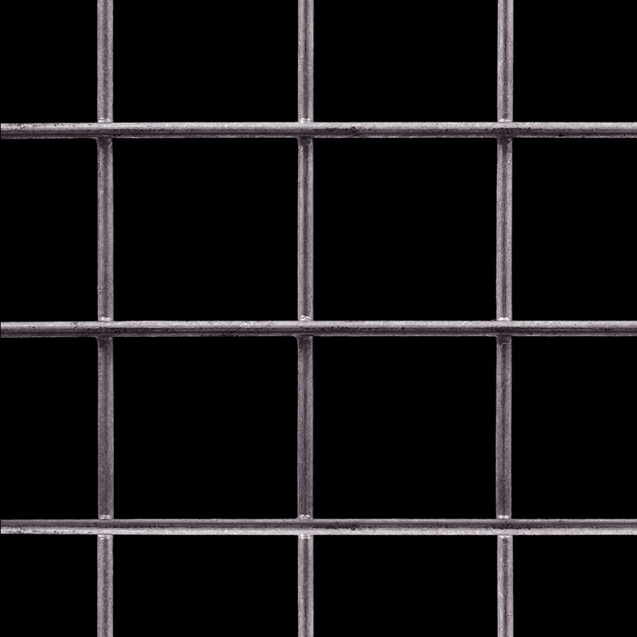 "McNICHOLS® Wire Mesh Square, Carbon Steel, Cold Rolled, Welded - Trimmed, 2"" x 2"" Mesh (Square), 1.8440"" x 1.8440"" Opening (Square), 0.156"" Thick (8-1/2 Gauge) Wire Diameter, 85% Open Area"
