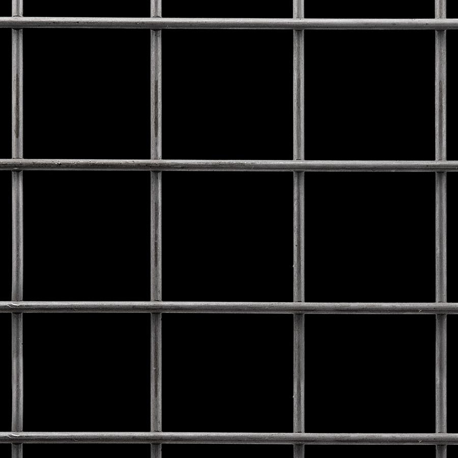 "McNICHOLS® Wire Mesh Square, Carbon Steel, Cold Rolled, Welded - Trimmed, 2"" x 2"" Mesh (Square), 1.8400"" x 1.8400"" Opening (Square), 0.160"" Thick (8-1/4 Gauge) Wire Diameter, 85% Open Area"