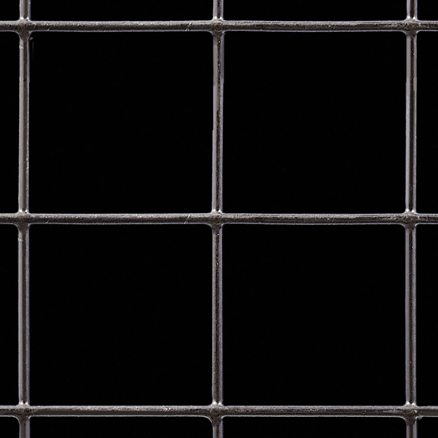 "McNICHOLS® Wire Mesh Square, Carbon Steel, Cold Rolled, Welded - Trimmed, 2"" x 2"" Mesh (Square), 1.8950"" x 1.8950"" Opening (Square), 0.105"" Thick (12 Gauge) Wire Diameter, 91% Open Area"