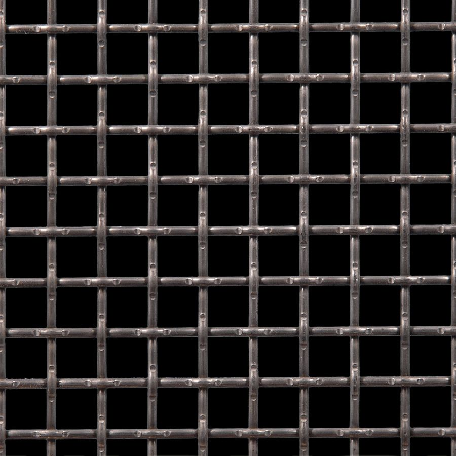 "McNICHOLS® Wire Mesh Square, Carbon Steel, Cold Rolled, Woven - Lock Crimp Weave, 0.5000"" x 0.5000"" Opening (Square), 0.120"" Thick (11 Gauge) Wire Diameter, 65% Open Area"