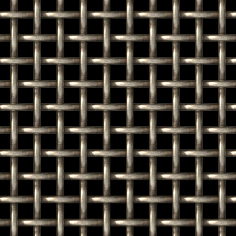 "McNICHOLS® Wire Mesh Square, Carbon Steel, Cold Rolled, Woven - Plain Weave, 0.5000"" x 0.5000"" Opening (Square), 0.250"" Thick (2-3/4 Gauge) Wire Diameter, 44% Open Area"