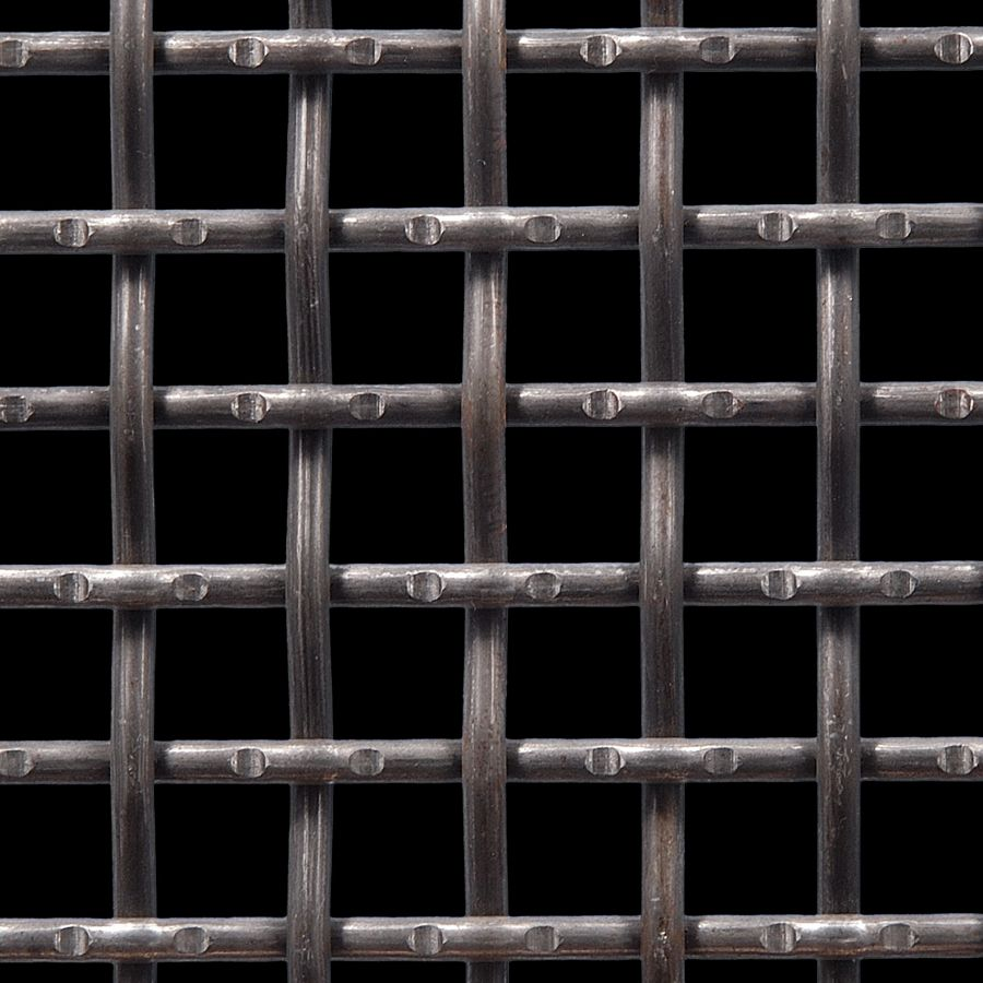 "McNICHOLS® Wire Mesh Square, Carbon Steel, Cold Rolled, Woven - Lockcrimp/Plain Weave, 0.7500"" x 0.7500"" Opening (Square), 0.250"" Thick (2-3/4 Gauge) Wire Diameter, 56% Open Area"