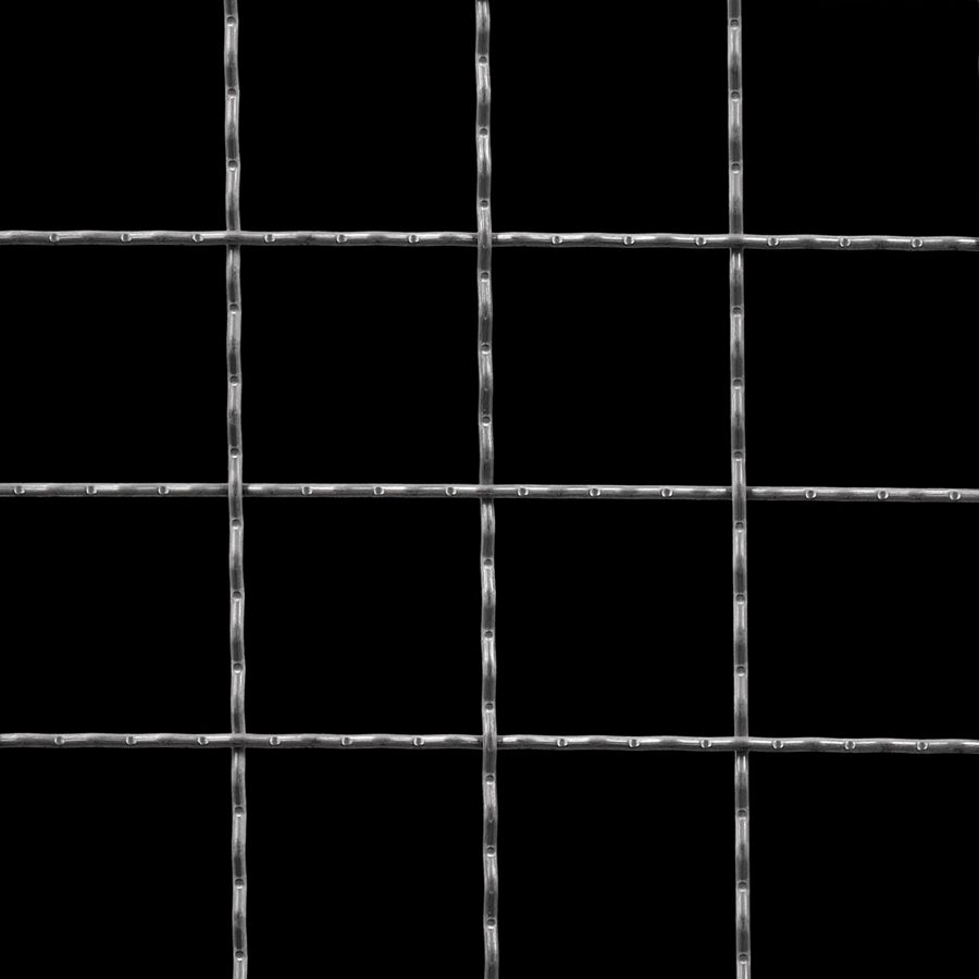 "McNICHOLS® Wire Mesh Square, Carbon Steel, Cold Rolled, Woven - Intercrimp Weave, I7I7 Crimp Style, 2.0000"" x 2.0000"" Opening (Square), 0.120"" Thick (11 Gauge) Wire Diameter, 89% Open Area"