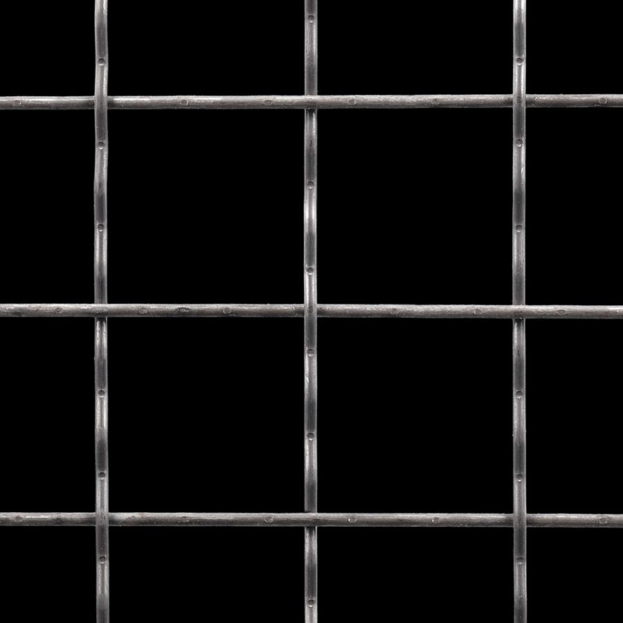 "McNICHOLS® Wire Mesh Square, Carbon Steel, Cold Rolled, Woven - Intercrimp Weave, I5I5 Crimp Style, 2.0000"" x 2.0000"" Opening (Square), 0.135"" Thick (10 Gauge) Wire Diameter, 88% Open Area"