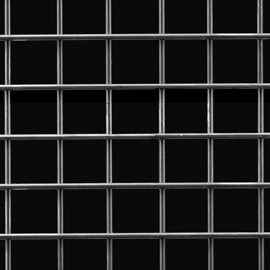 "McNICHOLS® Wire Mesh Square, Carbon Steel, Cold Rolled, Welded - Trimmed, 1 x 1 Mesh (Square), 0.8650"" x 0.8650"" Opening (Square), 0.135"" Thick (10 Gauge) Wire Diameter, 75% Open Area"