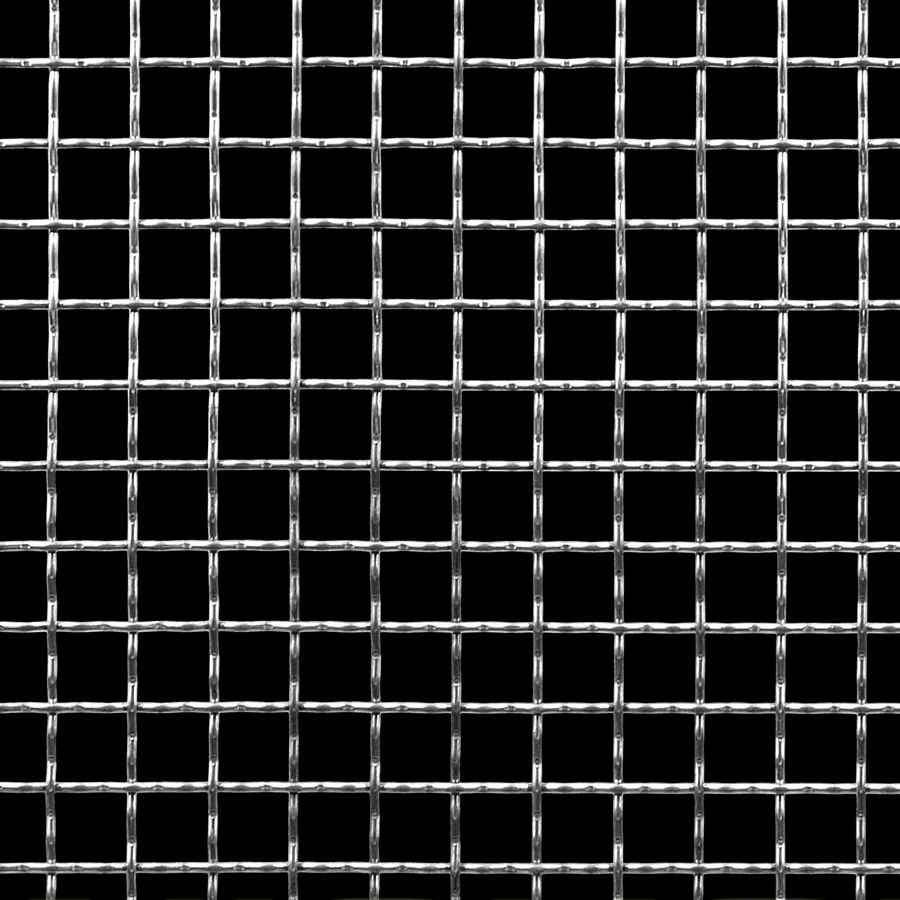 "McNICHOLS® Wire Mesh Square, Aluminum, Aluminum Alloy, Woven - Intercrimp Weave, I3I3 Crimp Style, 2 x 2 Mesh (Square), 0.4370"" x 0.4370"" Opening (Square), 0.063"" Thick (16 Gauge) Wire Diameter, 76% Open Area"