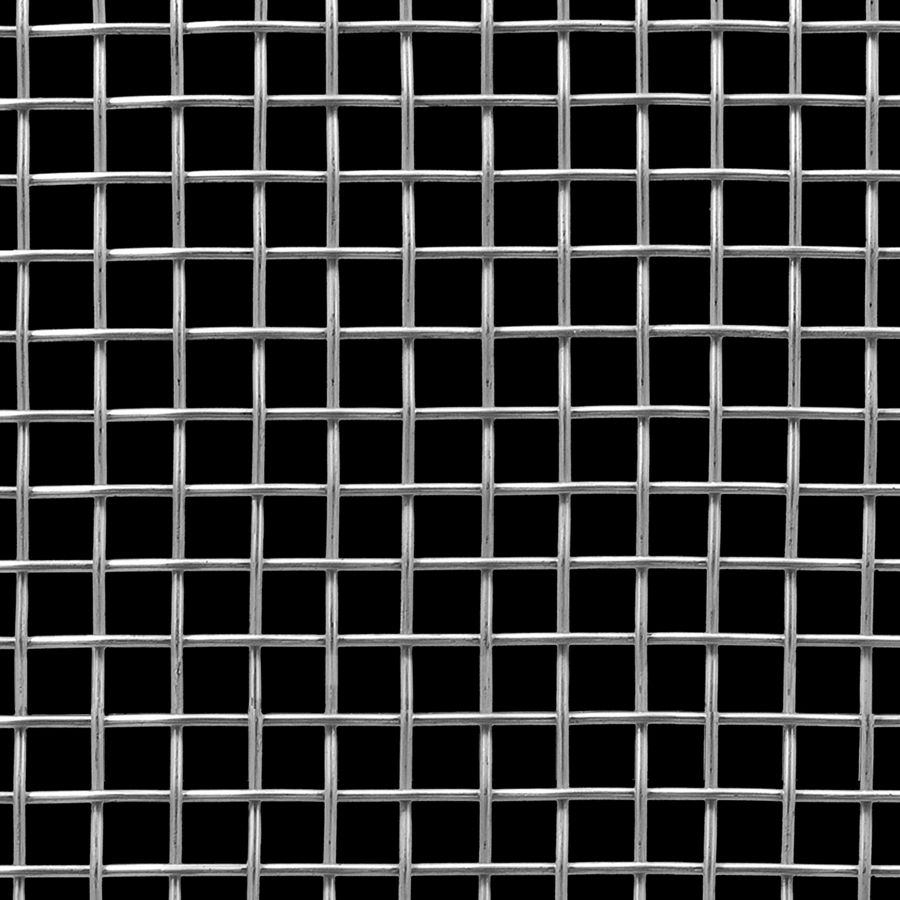 "McNICHOLS® Wire Mesh Square, Aluminum, Alloy 1350-H19, Woven - Plain Weave, 2 x 2 Mesh (Square), 0.4200"" x 0.4200"" Opening (Square), 0.080"" Thick (14 Gauge) Wire Diameter, 71% Open Area"