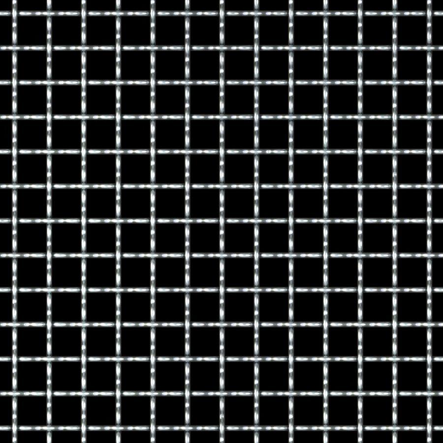 "McNICHOLS® Wire Mesh Square, Aluminum, Alloy 1350-H19, Woven - Plain Weave, 2 x 2 Mesh (Square), 0.4200"" x 0.4200"" Opening (Square), 0.080"" Thick (14 Gauge) Wire Diameter, 71% Open Area"