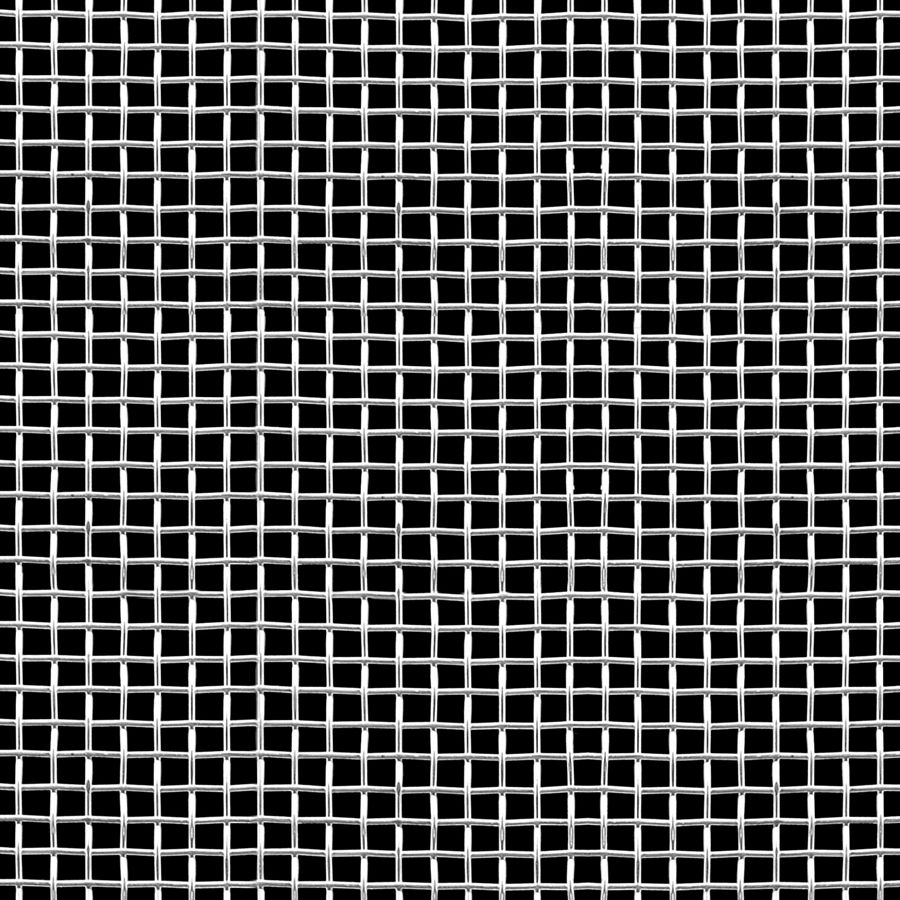 "McNICHOLS® Wire Mesh Square, Aluminum, Aluminum Alloy, Woven - Plain Weave, 4 x 4 Mesh (Square), 0.2030"" x 0.2030"" Opening (Square), 0.047"" Thick (18 Gauge) Wire Diameter, 66% Open Area"