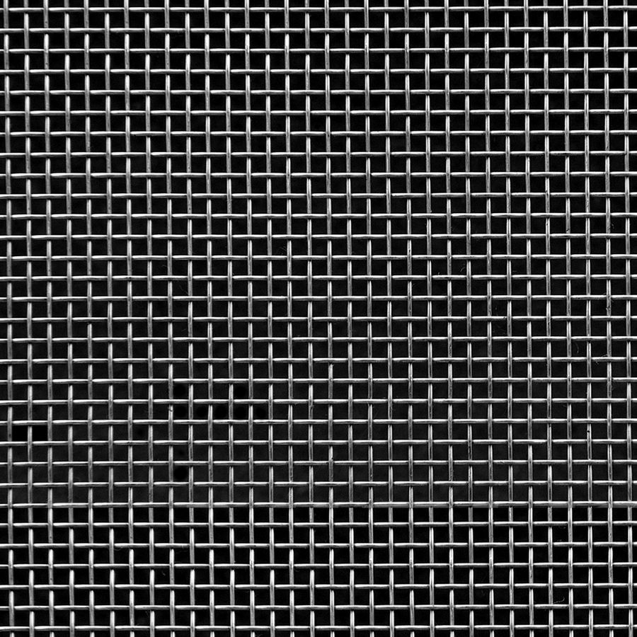 "McNICHOLS® Wire Mesh Square, Aluminum, Aluminum Alloy, Woven - Plain Weave, 8 x 8 Mesh (Square), 0.0970"" x 0.0970"" Opening (Square), 0.028"" Thick (22-1/4 Gauge) Wire Diameter, 60% Open Area"